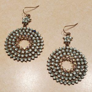 Francesca's Collections Aquamarine Dangle Earrings